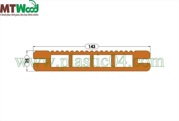 Hollow anti-slip Decking Board - DB02 - Plastic 04 Corporation
